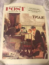 """Saturday Evening Post Nov. 24, 1951 Norman Rockwell """"Saying Grace"""" Poster"""