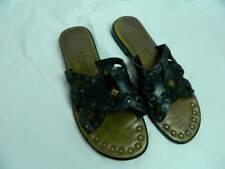 Womens  6.5 Mila Paoli Italian Leather Sandals Slip On Shoes
