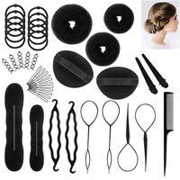 71Pcs/Set Hair Styling Clips Bun Makers Twist Braid Ponytail Tools Accessories