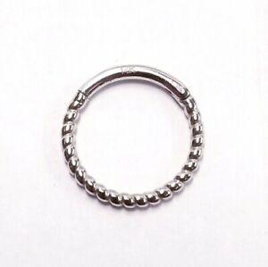 OUFER Helix Earring Hoop 14K Solid Gold Daith Earring 16G Septum Piercing Hinge