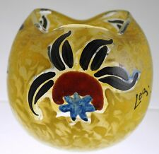 Legras - Enameled Cameo - Art Deco Sylized Flowers - Rose Bowl