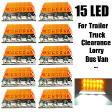 10X 15 LED Side Marker Light Clearance Cab Lamps Truck Trailer Lorry Bus Amber