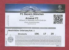 Orig.Ticket  Champions League 15/16   BAYERN MÜNCHEN - ARSENAL FC  !!  SELTEN