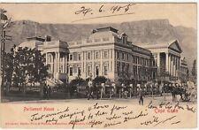CGH: EDVII Postcard, Parliament House; Cape Town to London, 24 June 1905