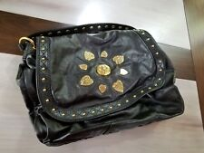232b6e06d516 ☆AUTHENTIC NEW GUCCI IRINA BABOUSKA HOBO CLASSIC BLACK LEATHER STUDS GOLD  TONE☆
