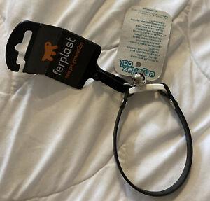 Halsband für Katzen oder kleine Hunde, schwarz, Size S