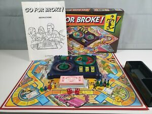 MB Games Go For Broke! Vintage Classic Retro Board Game 1993Complete Inc Rules