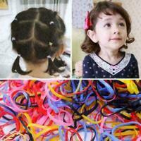 1000 pcs Colorful Ponytail Holder Elastic Rubber Band Hair Ties Ropes Rings X8O1