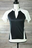 Specialized Womens Black White 3/4 Zip Cycling Jersey Size Small