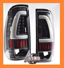 Plug Play 99-07 F250 F350 F450 Super Duty Black Clear Led Light Bar Tail Lights