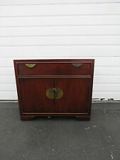 Hollywood Regency MCM Mahohany Large Nightstand End Table by Thomasville 8479