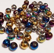 30 Preciosa Glasschliffperlen 6mm Feuerpoliert Kugel Mix Perlen Set BEST X274