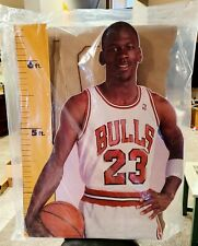 MICHAEL JORDAN 1987 VINTAGE LIFE SIZE MEASURE UP CARDBOARD CUT OUT. NEVER OPENED