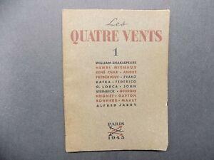 LES QUATRE VENTS N°1 1945 - Surréalisme Poésie Littérature