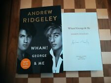 Andrew Ridgeley SIGNED Wham George & Me Autobiography 1st Edition 2nd Impression