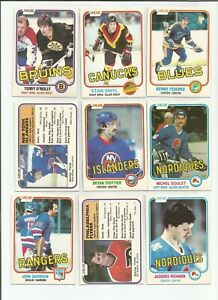 44 1981/82 O  PEE CHEE COMMONS  BOSSY TROTTIER  GOULET+++OTHERS EX PLUS TO EX-MT
