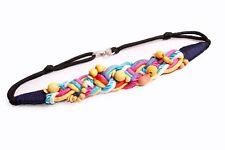 Cuerdas cobarde colorido Cuentas De Madera Entrelazados Cinturón W Ideal Para Fiestas (S397)