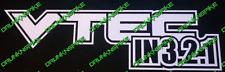 VTEC en 3 2 1 Honda Civic Tipo R EP3 FN2 FK2 FK8 Adhesivo Coche Divertido