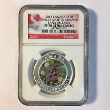 2013 Canada Canadian S $10 Twelve Spotted Skimmer NGC PF70 UC ER Silver Coin