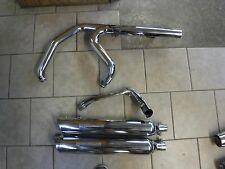 08 And Later Harley Davidson FLH Touring Chrome Exhaust System
