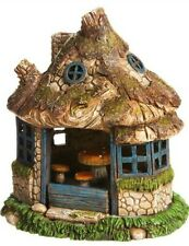 Solar Lighted Fairy House A View in the Village Miniature Fairy Garden  EV