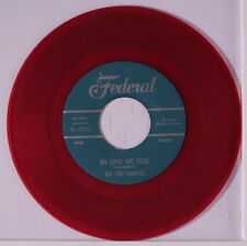 FIVE CHANCES: My Days Are Blue / Tell Me Why 45 (repro, red wax) Vocal Groups