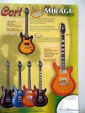 PUBLICITE-ADVERTISING :  Guitares CORT Série Mirage  11/2002