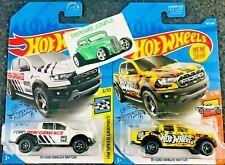 Hot Wheel - Lot of 2 - FORD '19 RANGER RAPTOR - White / Yellow E53
