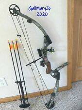 """NICE PSE CARRERA COMPOUND BOW LEFT HAND 55-70#@27"""" 3 NEW CARBON ARROW 28"""" LOADED"""