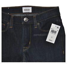 "New $185 Hudson Women's Nico Midrise Super Skinny Jean 24"" in Dark Time Wash NWT"