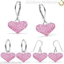 Liebe & Herzen-Hakenverschluss echte-Ohrschmuck aus Sterlingsilber