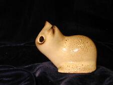 Vintage Stoneware Cat Small Figurine Mid Century Modern Simple