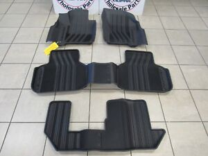 DODGE JOURNEY All-Weather Black Deep Molded Front Rear AND 3RD ROW Floor liners