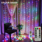 300 Led Curtain Fairy Lights String Indoor/outdoor Wedding Xmas Party Decorate