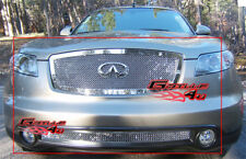 Fits Infiniti FX35/FX45 Stainless Mesh Grille Combo 03-05