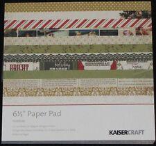 "Kaisercraft 'YULETIDE' 6.5"" Paper Pad Christmas/Santa/Tree/Holly *NEW* KAISER"