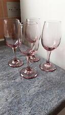 4 VINTAGE PINK PURPLE WINE GLASSES