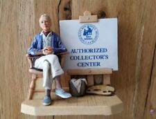Norman Rockwell Museum Authorized Collectors Center Sign Figure Rare 1981
