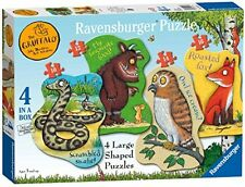 Ravensburger The Gruffalo 4 Shaped Jigsaw Puzzles (10,12,14,16pc) UK POST FREE
