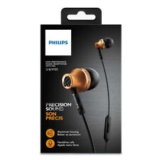 Philips SHE9105BS In-ear Headphones with Mic SHE9105 Black and Gold