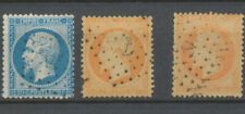 Classique N°22 20c  bleu , N°23, N°31 40c orange Oblitérés ANCRE TB. P5095
