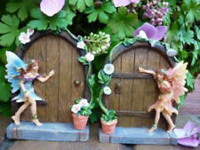 2x miniatura Brillante Puerta hadas elf Hobbit Árbol Decoración Jardín Casa