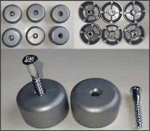 Stuhlgleiter Möbelgleiter 6 Stk. Ø 39 mm Möbelfüße Schrankfüße Tischfüße Bettfuß