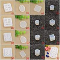 Silicone DIY Bead Mold Round Square Shape Jewellery Making Mould Hand Craft Tool