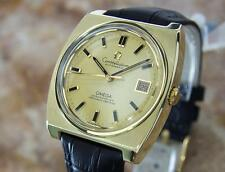 Omega Constellation Cal 1001 Gold Cap Gold Bezel 1970s Automatic Mens Watch MX5