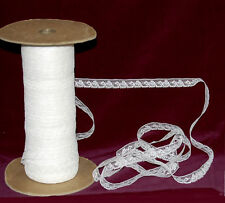 Vintage French White Bobbin Edge Lace 1/2 in. wide X the yard - 3 yard minimum