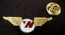 NORTHWEST AIRLINES LOGO GOLD TONE METAL & ENAMEL WINGED MINI PIN