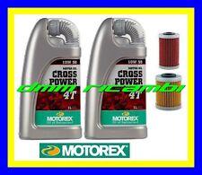 Kit Tagliando KTM SX ECX 250 400 450 520 525 00>07 Olio MOTOREX Cros Power 10W50