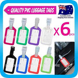 6x Luggage Tag Travel ID Tag Plastic Address Label Tag for Backpack Handbag