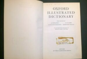 Oxford Illustrated Dictionary - Oxford University Press 1962 - English Text